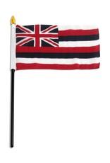 """Popcorn Tree Stick Flag 4""""x6"""" - Hawaii"""