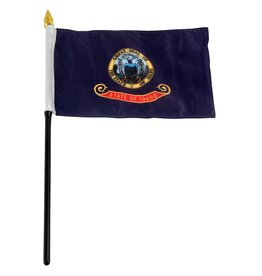 "Popcorn Tree Stick Flag 4""x6"" - Idaho"