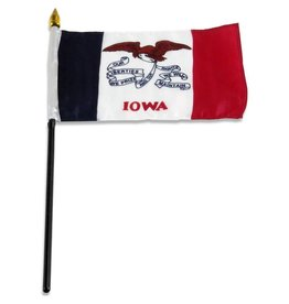 "Popcorn Tree Stick Flag 4""x6"" - Iowa"