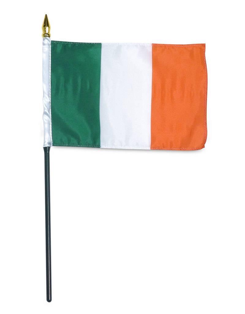 "Popcorn Tree Stick Flag 4""x6"" - Ireland"