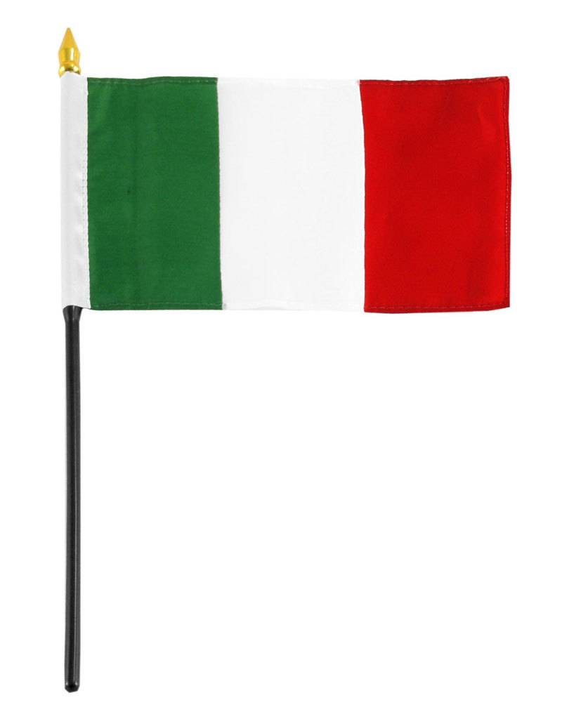 "Popcorn Tree Stick Flag 4""x6"" - Italy"