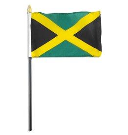 "Popcorn Tree Stick Flag 4""x6"" - Jamaica"
