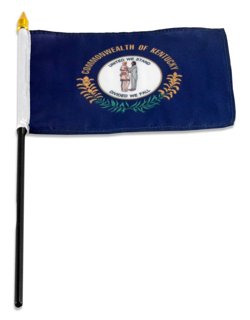 "Popcorn Tree Stick Flag 4""x6"" - Kentucky"