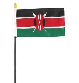 "Popcorn Tree Stick Flag 4""x6"" - Kenya"