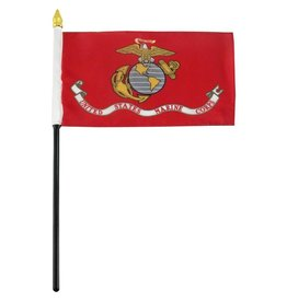 "Popcorn Tree Stick Flag 4""x6"" - Marine"