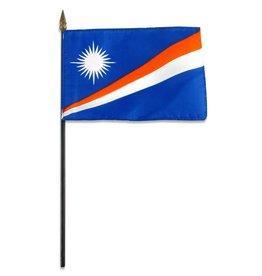 "Popcorn Tree Stick Flag 4""x6"" - Marshall Islands"