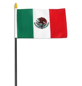 "Popcorn Tree Stick Flag 4""x6"" - Mexico"