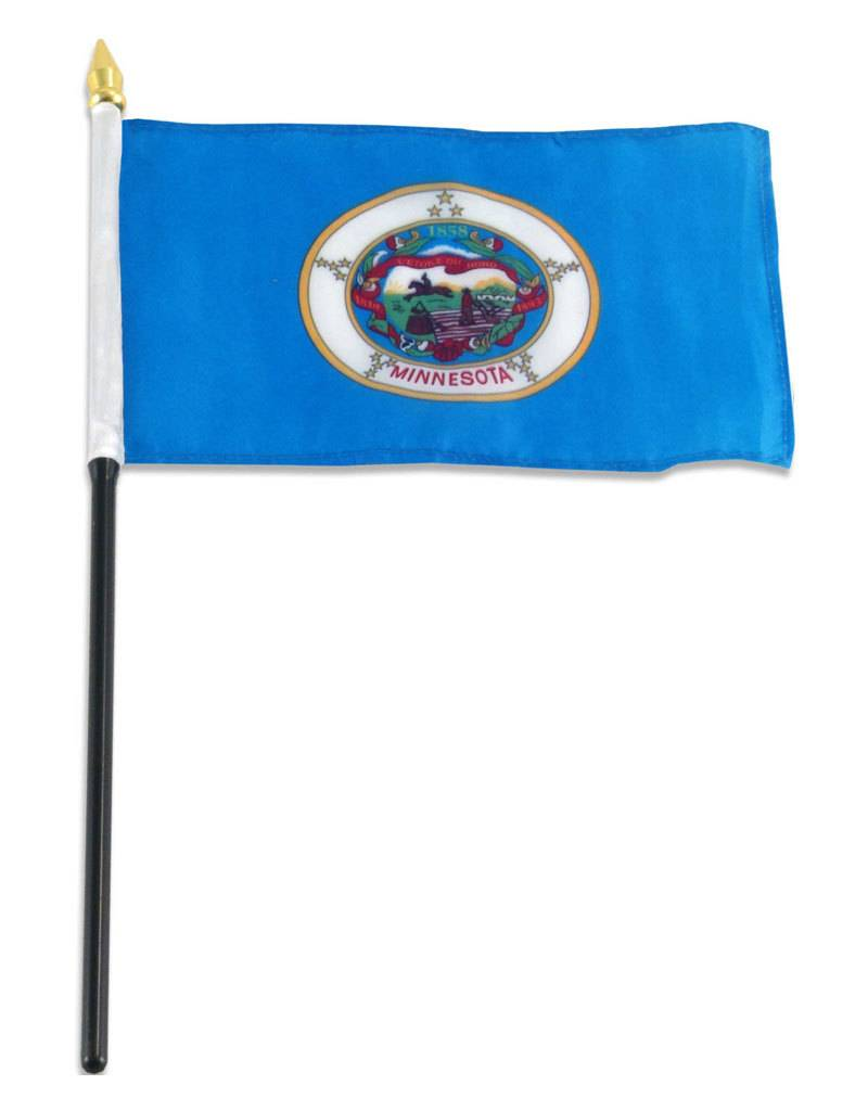 "Popcorn Tree Stick Flag 4""x6"" - Minnesota"