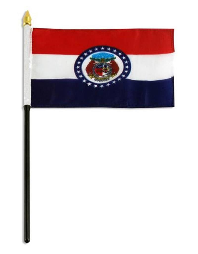 "Popcorn Tree Stick Flag 4""x6"" - Missouri"