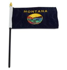 "Popcorn Tree Stick Flag 4""x6"" - Montana"