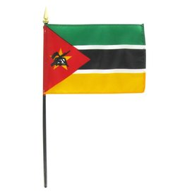 "Popcorn Tree Stick Flag 4""x6"" - Mozambique"