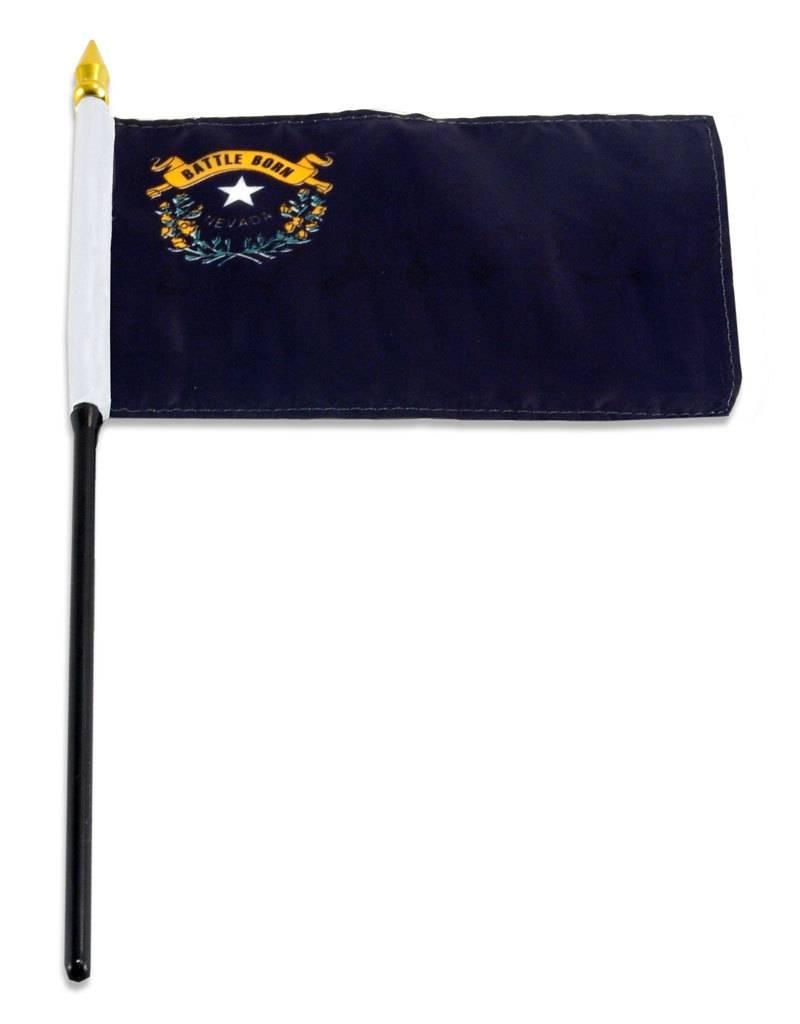 "Popcorn Tree Stick Flag 4""x6"" - Nevada"