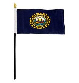 "Popcorn Tree Stick Flag 4""x6"" - New Hampshire"