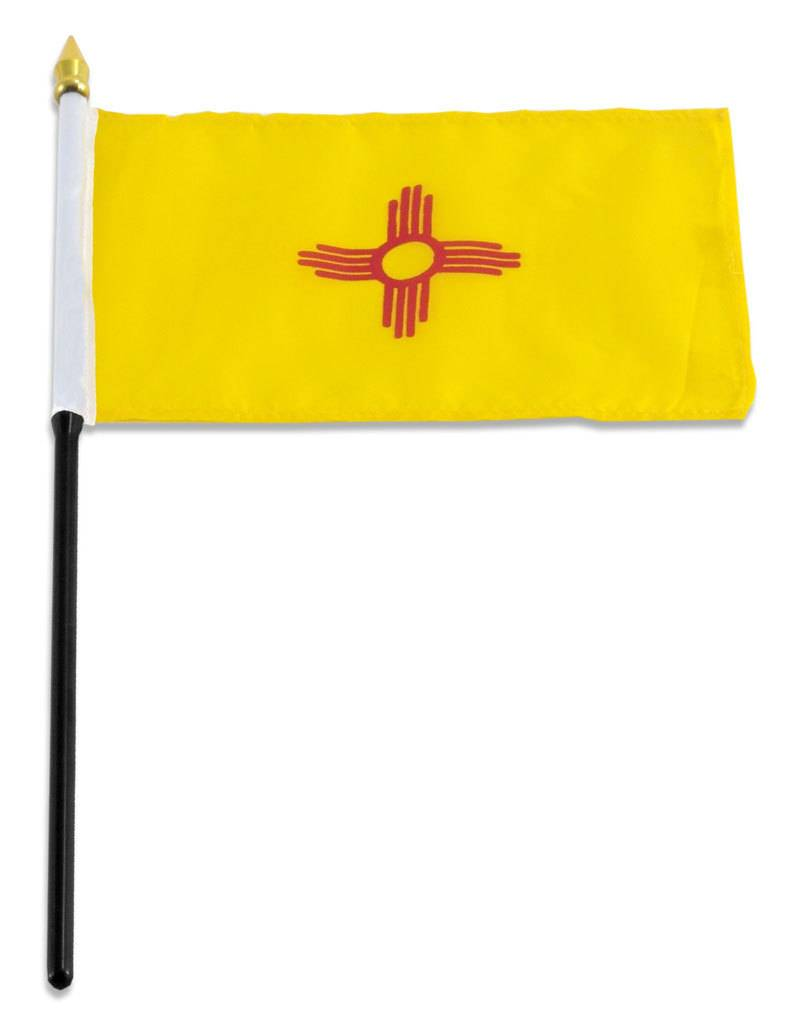 "Popcorn Tree Stick Flag 4""x6"" - New Mexico"