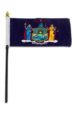 "Popcorn Tree Stick Flag 4""x6"" - New York"