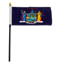 "Popcorn Tree Stick Flag 4""x6"" - New York"
