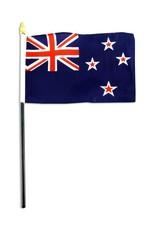 "Popcorn Tree Stick Flag 4""x6"" - New Zealand"
