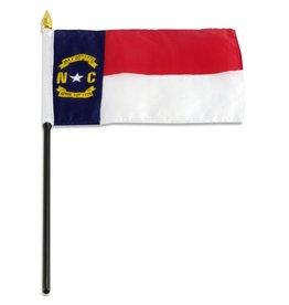 "Popcorn Tree Stick Flag 4""x6"" - North Carolina"