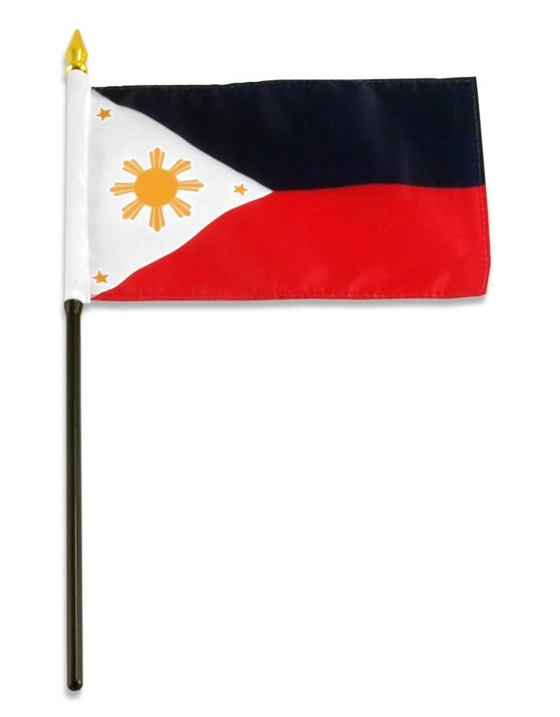 "Popcorn Tree Stick Flag 4""x6"" - Philippines"