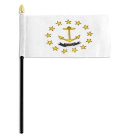 "Popcorn Tree Stick Flag 4""x6"" - Rhode Island"