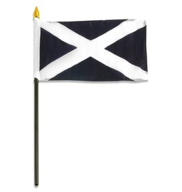 "Popcorn Tree Stick Flag 4""x6"" - Scotland"