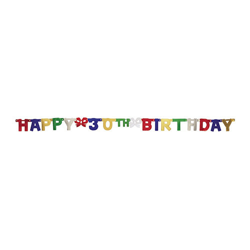 Creative Converting Banner - Joint, Happy 30th Birthday