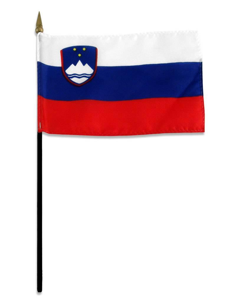 "Popcorn Tree Stick Flag 4""x6"" - Slovenia"