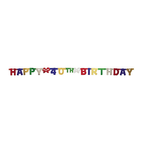 Creative Converting Banner - Joint, Happy 40th Birthday