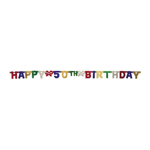 Creative Converting Banner - Joint, Happy 50th Birthday