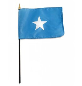 "Popcorn Tree Stick Flag 4""x6"" - Somalia"