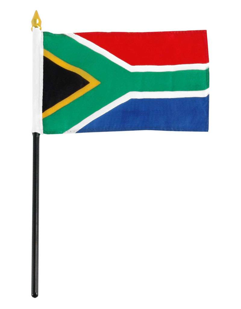 "Popcorn Tree Stick Flag 4""x6"" - South Africa"