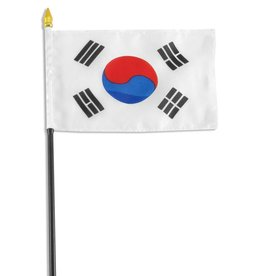 "Popcorn Tree Stick Flag 4""x6"" - South Korea"