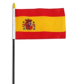 "Popcorn Tree Stick Flag 4""x6"" - Spain"