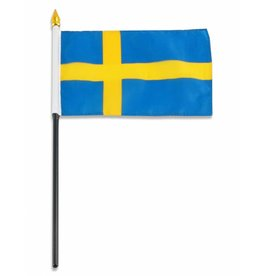 "Popcorn Tree Stick Flag 4""x6"" - Sweden"