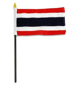 "Popcorn Tree Stick Flag 4""x6"" - Thailand"