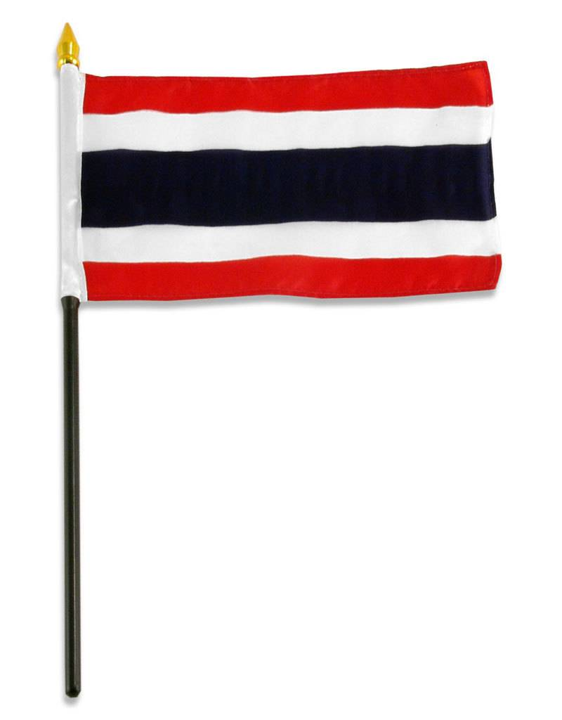 "Popcorn Tree Stick Flag 4""x6"" - Thailand"