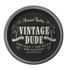 "Creative Converting Vintage Dude - 9"" Dinner Plates"