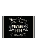 Creative Converting Vintage Dude - Invitations