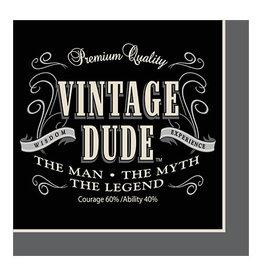 Creative Converting Vintage Dude - Napkins, Beverage