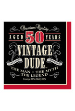Creative Converting Vintage Dude - Napkins, Lunch 50th