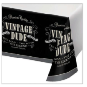 Creative Converting Vintage Dude - Tablecover 54x108