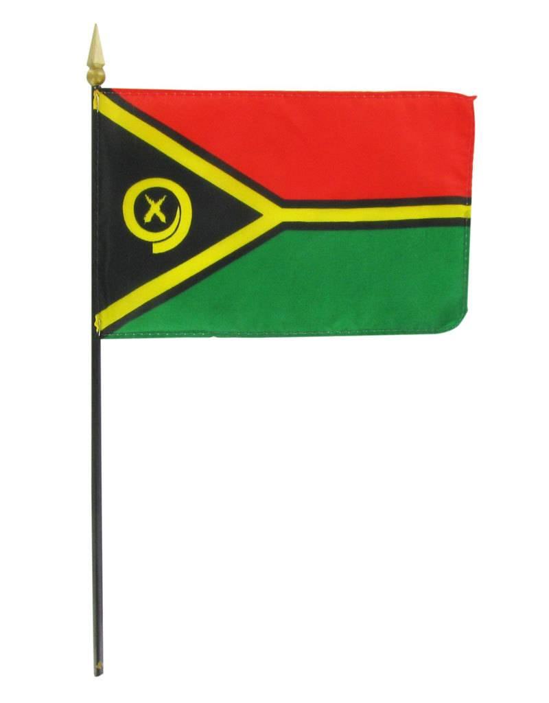 "Popcorn Tree Stick Flag 4""x6"" - Vanuatu"