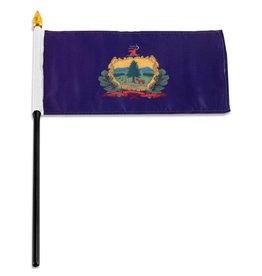 "Popcorn Tree Stick Flag 4""x6"" - Vermont"