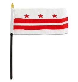 "Popcorn Tree Stick Flag 4""x6"" - Washington DC"