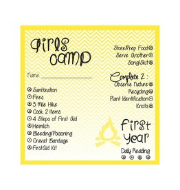 Popcorn Tree Girls Camp Punch Cards - 1st Year, 6ct