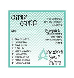 Popcorn Tree Girls Camp Punch Cards - 2nd Year, 6ct