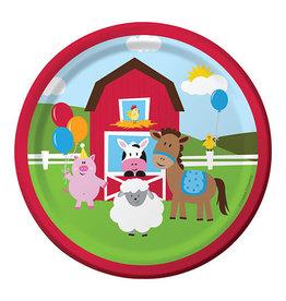 """Creative Converting Farmhouse Fun - Plates, 7"""" Luncheon"""