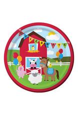 """Creative Converting Farmhouse Fun - Plates, 9"""" Dinner"""