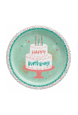 """Happy Cake Day 10 1/2"""" Plate"""