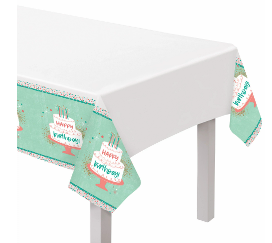 Happy Cake Day Plastic Tablecover
